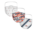 Denver Broncos Women's Face Covering (Adult Size) (Pack of 3)